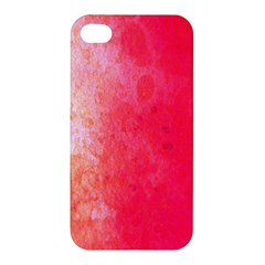 Abstract Red And Gold Ink Blot Gradient Apple Iphone 4/4s Hardshell Case