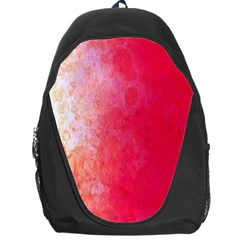 Abstract Red And Gold Ink Blot Gradient Backpack Bag