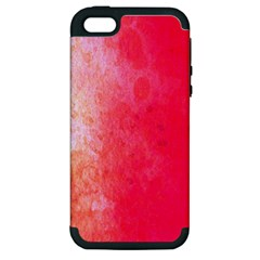Abstract Red And Gold Ink Blot Gradient Apple iPhone 5 Hardshell Case (PC+Silicone)