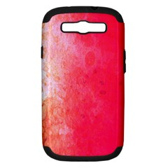 Abstract Red And Gold Ink Blot Gradient Samsung Galaxy S Iii Hardshell Case (pc+silicone)