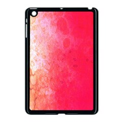 Abstract Red And Gold Ink Blot Gradient Apple Ipad Mini Case (black)