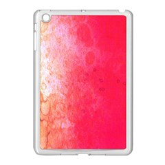 Abstract Red And Gold Ink Blot Gradient Apple Ipad Mini Case (white)