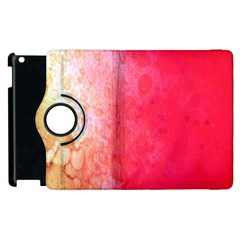 Abstract Red And Gold Ink Blot Gradient Apple Ipad 3/4 Flip 360 Case