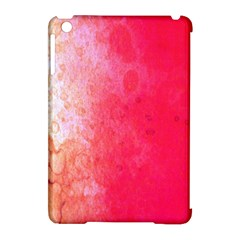Abstract Red And Gold Ink Blot Gradient Apple iPad Mini Hardshell Case (Compatible with Smart Cover)