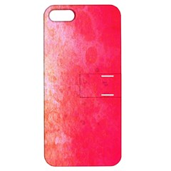 Abstract Red And Gold Ink Blot Gradient Apple iPhone 5 Hardshell Case with Stand