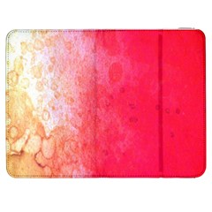 Abstract Red And Gold Ink Blot Gradient Samsung Galaxy Tab 7  P1000 Flip Case