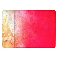 Abstract Red And Gold Ink Blot Gradient Samsung Galaxy Tab 10.1  P7500 Flip Case
