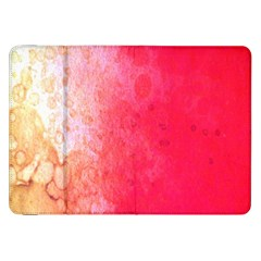Abstract Red And Gold Ink Blot Gradient Samsung Galaxy Tab 8 9  P7300 Flip Case