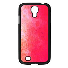 Abstract Red And Gold Ink Blot Gradient Samsung Galaxy S4 I9500/ I9505 Case (black)