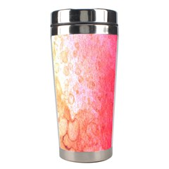 Abstract Red And Gold Ink Blot Gradient Stainless Steel Travel Tumblers