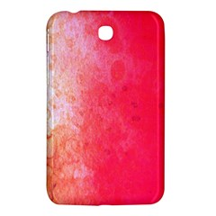 Abstract Red And Gold Ink Blot Gradient Samsung Galaxy Tab 3 (7 ) P3200 Hardshell Case