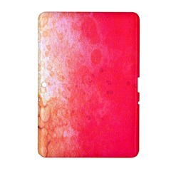Abstract Red And Gold Ink Blot Gradient Samsung Galaxy Tab 2 (10 1 ) P5100 Hardshell Case