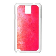 Abstract Red And Gold Ink Blot Gradient Samsung Galaxy Note 3 N9005 Case (white)
