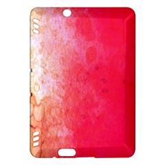 Abstract Red And Gold Ink Blot Gradient Kindle Fire HDX Hardshell Case