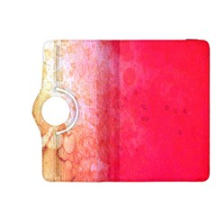 Abstract Red And Gold Ink Blot Gradient Kindle Fire HDX 8.9  Flip 360 Case