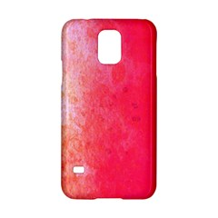 Abstract Red And Gold Ink Blot Gradient Samsung Galaxy S5 Hardshell Case