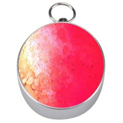 Abstract Red And Gold Ink Blot Gradient Silver Compasses