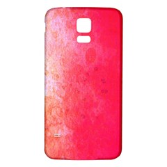 Abstract Red And Gold Ink Blot Gradient Samsung Galaxy S5 Back Case (White)