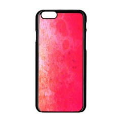 Abstract Red And Gold Ink Blot Gradient Apple Iphone 6/6s Black Enamel Case