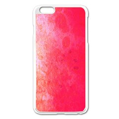 Abstract Red And Gold Ink Blot Gradient Apple iPhone 6 Plus/6S Plus Enamel White Case