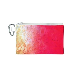 Abstract Red And Gold Ink Blot Gradient Canvas Cosmetic Bag (s)