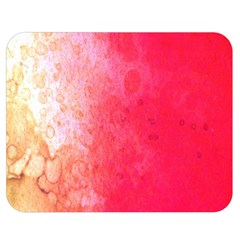 Abstract Red And Gold Ink Blot Gradient Double Sided Flano Blanket (medium)