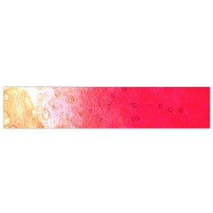 Abstract Red And Gold Ink Blot Gradient Flano Scarf (small)