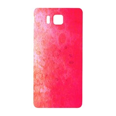 Abstract Red And Gold Ink Blot Gradient Samsung Galaxy Alpha Hardshell Back Case