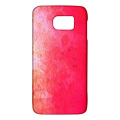 Abstract Red And Gold Ink Blot Gradient Galaxy S6
