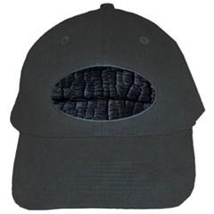 Black Burnt Wood Texture Black Cap