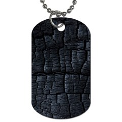 Black Burnt Wood Texture Dog Tag (two Sides)