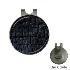 Black Burnt Wood Texture Hat Clips With Golf Markers