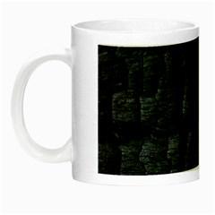 Black Burnt Wood Texture Night Luminous Mugs