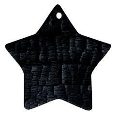 Black Burnt Wood Texture Star Ornament (two Sides)