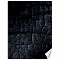 Black Burnt Wood Texture Canvas 18  X 24