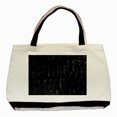 Black Burnt Wood Texture Basic Tote Bag (two Sides)