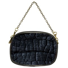 Black Burnt Wood Texture Chain Purses (Two Sides)