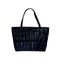 Black Burnt Wood Texture Shoulder Handbags