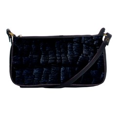 Black Burnt Wood Texture Shoulder Clutch Bags