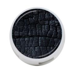 Black Burnt Wood Texture 4 Port Usb Hub (one Side)