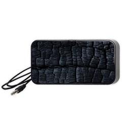 Black Burnt Wood Texture Portable Speaker (black)