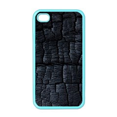 Black Burnt Wood Texture Apple iPhone 4 Case (Color)