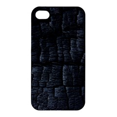 Black Burnt Wood Texture Apple Iphone 4/4s Hardshell Case