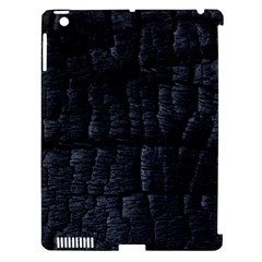 Black Burnt Wood Texture Apple Ipad 3/4 Hardshell Case (compatible With Smart Cover)