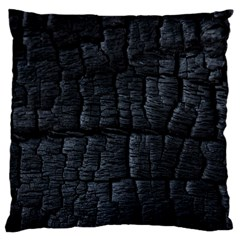 Black Burnt Wood Texture Large Cushion Case (one Side)