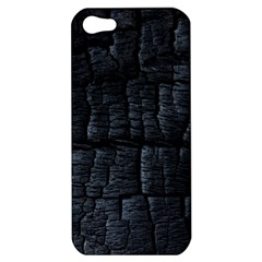 Black Burnt Wood Texture Apple iPhone 5 Hardshell Case