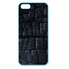 Black Burnt Wood Texture Apple Seamless Iphone 5 Case (color)
