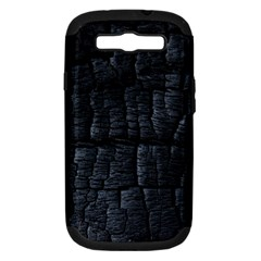 Black Burnt Wood Texture Samsung Galaxy S Iii Hardshell Case (pc+silicone)
