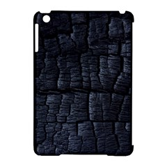 Black Burnt Wood Texture Apple Ipad Mini Hardshell Case (compatible With Smart Cover)