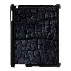 Black Burnt Wood Texture Apple Ipad 3/4 Case (black)